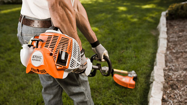 Stihl KM-56 in String Trimmer Configuration
