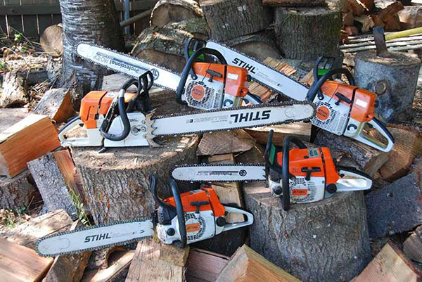 Many Stihl Chainsaws